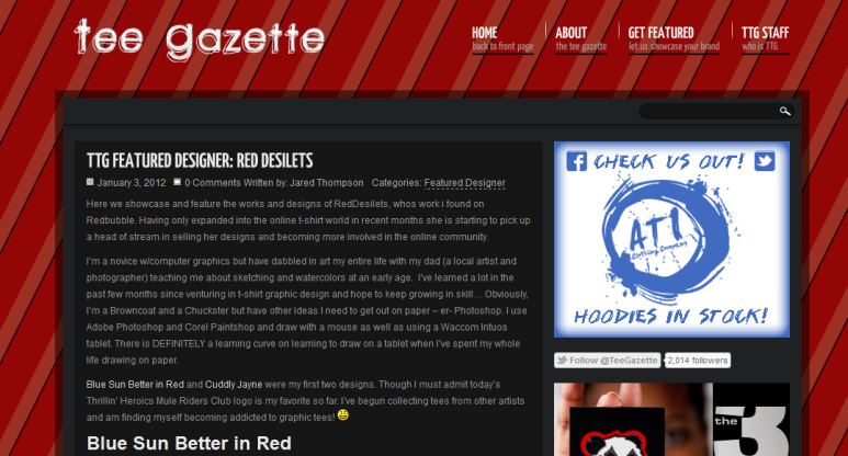 tee gazette features reddesilets